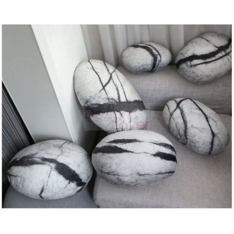 Collection Comet design Rock cushion pouf set of 6pcs