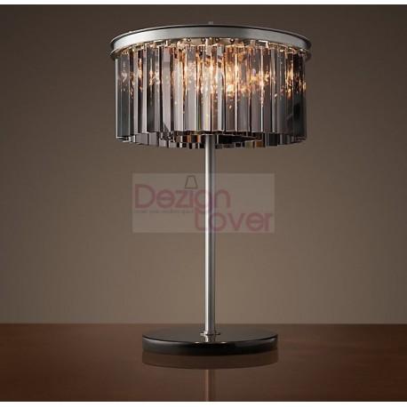 Rh Rhys Prism Round Crystal Table Lamp Design By Restoration