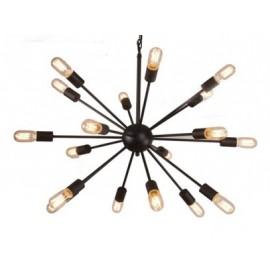 Chandelier design industriel Sputnik forme ronde