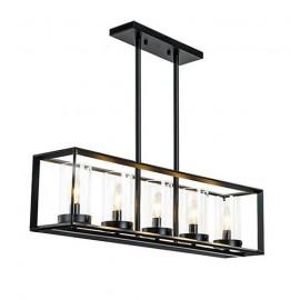 Industrial Loft Glass Rectangular pendant lamp