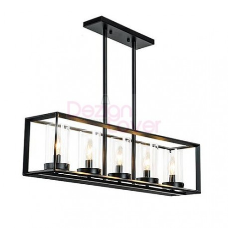 Industrial Loft Glass Rectangular pendant lamp