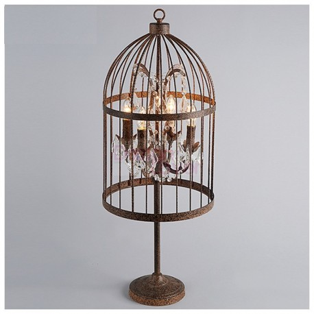 Rh Vintage Birdcage Table Lamp Design An Industrial Lighting