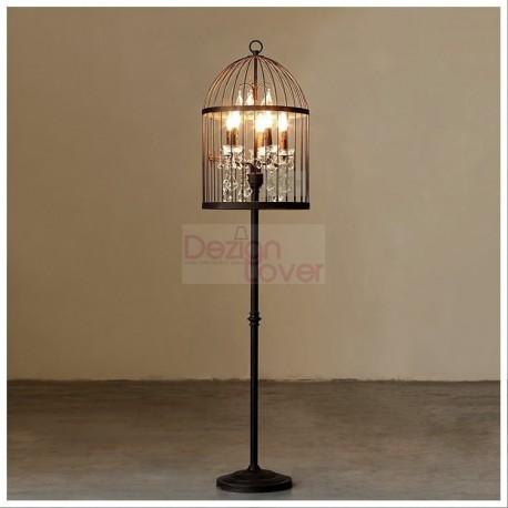 Rh Vintage Birdcage Design Floor Lamp