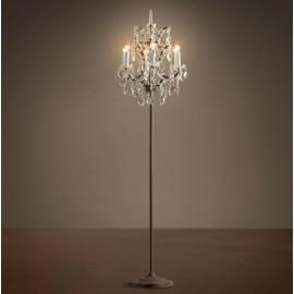 RH 19TH C. ROCOCO IRON CRYSTAL Floor lamp