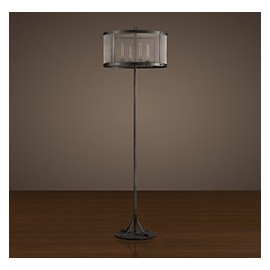 RH RIVETED MESH Floor Lamp
