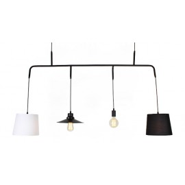 Vialattea pendant lamp design with edison bulbs
