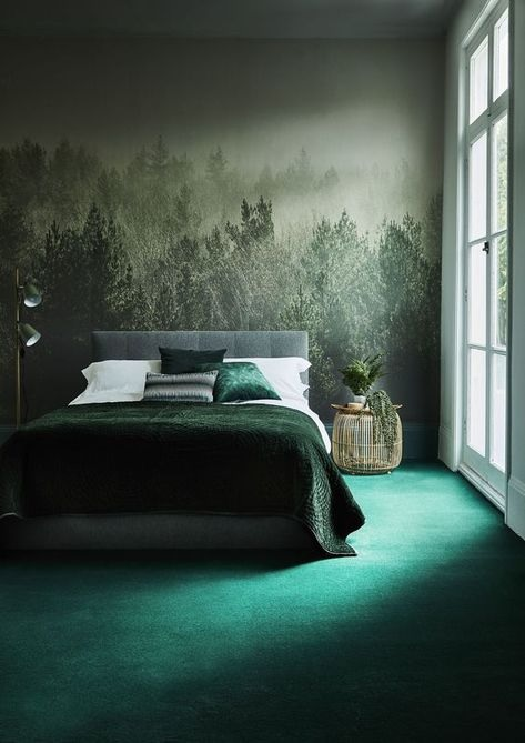 Dezign Lover Blog | Home decor ideas : Sublimate your home with the pretty forest green