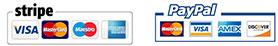 Stripe, Paypal Card Logo
